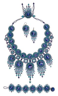 Jewelry Design - Bib-Style Necklace, Bracelet and Earring Set with Swarovski Crystal and Seed Beads - Fire Mountain Gems and Beads