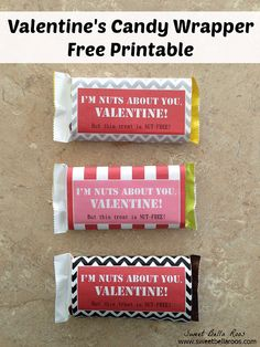 Valentine's Candy Wrapper- Free Printable
