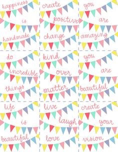 I'm so printing one of these cuties for my craft space! Happiness IS handmade, indeed!