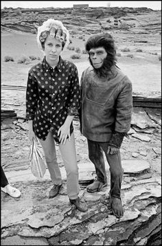 """USA. California. 1967. On the set of """"Planet of the Apes."""""""