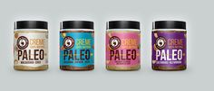 Creme Paleo — The Dieline - Branding & Packaging Design Jam Packaging, Organic Packaging, Brand Packaging, Packaging Design, Product Packaging, Packaging Ideas, Paleo Nuts, Bad Room Ideas, Food Branding