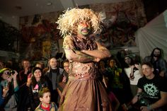 Earth Celebrations--Direct Fashion Show at the Museum of Reclaimed Urban Space. LES, NYC. Earth costume. Photo by Brian D. Caron.