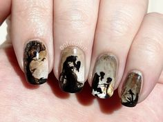 These 20 Examples of Harry Potter Nail Art Deserve All The Points - Tell the tale of The Deathly Hallows - Harry Potter Nail Art, Harry Potter Nails Designs, Harry Potter Makeup, Cute Nail Art, Cute Acrylic Nails, Gel Nail Art, Nail Polish, Love Nails, Fun Nails