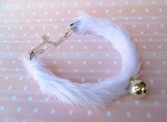 Bell Choker Fur Choker Bell Collar  Kitten Collar  by Kerenika