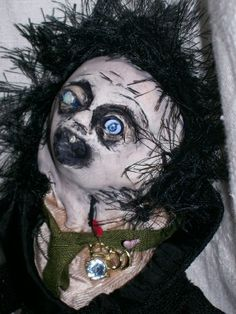 https://flic.kr/p/5kHJRD | Say hello to Mr. Pinky- Creepy schoolmaster voodoo art doll | This is Creepy schoolmaster art doll. He fell in love with a student many, many years ago and she broke his heart. Turns out that 16 year old girls think that deformed middle aged men are creepy and weird, not sexy and wonderful.  He skulks around the school halls, yelling at all the females in his path, but his heart is wounded.   This is a handmade cloth-bodied voodoo art doll, handmade by me. His…