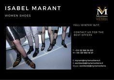 ISABEL MARANT SPRING-SUMMER 16 BAGS available for a pre-order at Myriam Volterra Luxury Buying Office! Contact us to know our latest and best discounts according to your specific requirements and quantities.