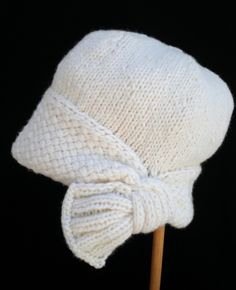"Knitting Pattern for Flapper Cloche - #ad Hat features a crisscross stitch pattern band ending with a decorative ""fan"" tba"