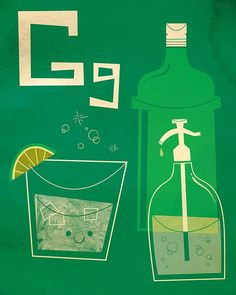 G is for gin and tonic - Alcobet letters by Zack-O-Lantern / Zack Forer