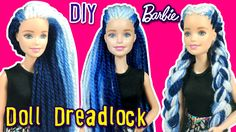 How to Make Dreadlock Hair for Barbie Doll - DIY - Barbie Reroot Tutorial