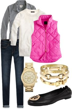 """""""Pink Vest"""" by alexkay98 on Polyvore"""