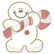 Gingerbread Man Rhinestone Bling Tshirt  by BlingnPrintStreet