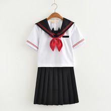 Chegada nova Japonês Uniforme Escolar Meninas Mal Embroideried Inglaterra Mulheres do Ensino médio Coreano Ternos de Marinheiro Uniforme S-XXL(China)