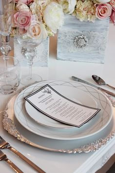 Featuring Baroque Silver Charger Plate by Joe's Prop House