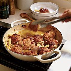 Chardonnay-Braised Chicken Thighs with Parsnips Recipe - 0  | MyRecipes