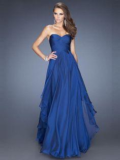 A-Line/Princess Sleeveless Ruffles Sweetheart Floor-Length Chiffon Dresses
