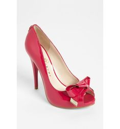 Free shipping and returns on Ivanka Trump 'Floria' Pump at Nordstrom.com. Golden accents polish a patent, peep-toe pump set atop a slim heel.