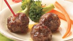 Sweet and Sour Meatballs...... Bottled sweet-and-sour sauce is the easy glaze for homemade meatballs.