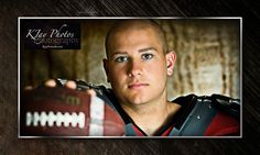 Football Senior Pictures.  Unique photography high school senior sports portraits, football ideas.  Visit kjayportraits.com for more examples of K Jay Photos Photography.