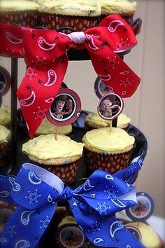 Ribbon on cupcake holder!