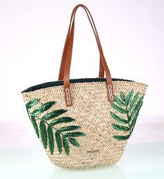 Prírodná slamená taška