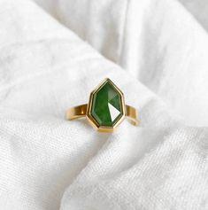 Bespoke Pounamu New Zealand Greenstone Ring by Courtney Marama Jewellery New Zealand Jewellery, Triangle Ring, Handcrafted Jewelry, Handmade, Contemporary Jewellery, Precious Metals, Solid Gold, Bespoke, Jewelery