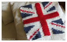 FitzBirch Crafts: Cool Britannia Crochet Cushion Cover