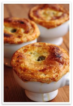 Drunken Chicken Pot Pie (cognac)... sounds like the most amazing dish!!
