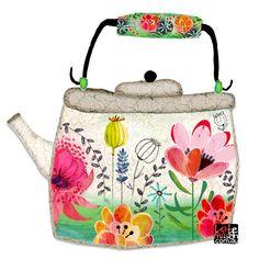 Food and object illustration Tea Illustration, Tea Art, Kitchen Art, Food Illustrations, Art Plastique, Art Lessons, Flower Art, Painting & Drawing, Art For Kids