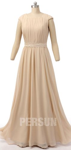 robe champagne longue style Kate col bateau pour mariage Bustier, Up, Dresses With Sleeves, Long Sleeve, Style, Fashion, Bun Hair, Valentines Day Weddings, Stuff Stuff