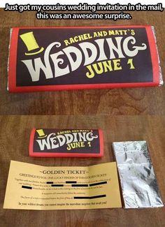 Charlie and the Chocolate Factory | 24 Adorably Geeky Wedding Invitations