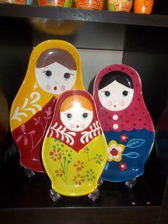Russian Nesting Doll / Matryoshka Platters World Market