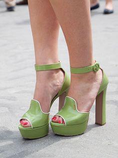 Fall 2013 Couture Week Street Style: Sophia, wearing Prada shoes