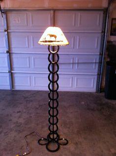 Rustic horseshoe floor lamp, on Etsy, $145.00