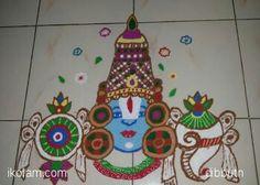 Balaji rangoli by dibbutn.
