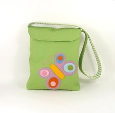 kids messenger bag  organic avocado green cotton by CleoAndPoppy, $36.00