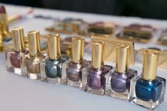 A line up of nail lacquers for fall. Pure Color Metallics Collection