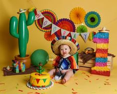 Cake Smash » Little Whimsies Photography Mexican Birthday Parties, 1 Year Old Birthday Party, First Birthday Party Themes, First Birthday Decorations, Baby Boy 1st Birthday, First Birthday Photos, Birthday Tutu, Birthday Ideas, Fiesta Theme Party