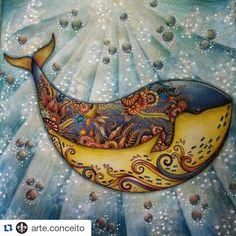 Pintura fabulosa by  @arte.conceito w ・#lostocean #oceanoperdido #johannabasford #desenhoscolorir