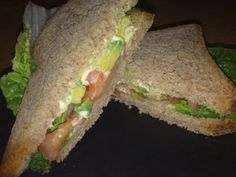healthy avocado sandwich