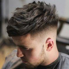 Widow's Peak Hairstyles For Men - Angular Fringe