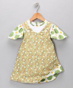 Green Grass Drops Tee & Reversible Dress