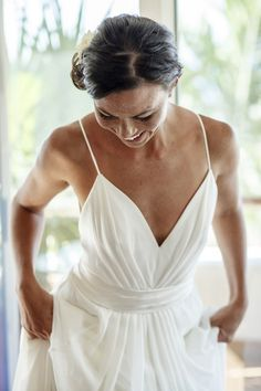 l'Elysee custom Carol Hannah wedding gown -Sayulita