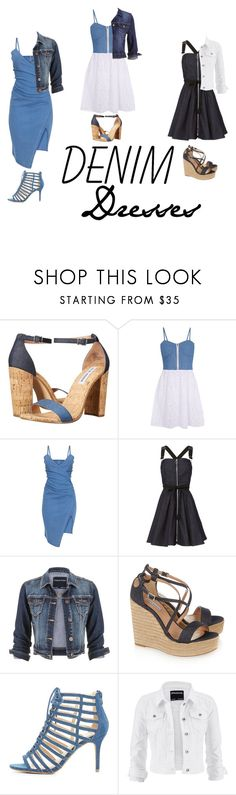 """Denim: Dresses"" by mias-angels on Polyvore featuring Steve Madden, Madam Rage, Adam Selman, maurices, Tabitha Simmons, Wild Diva and denim"