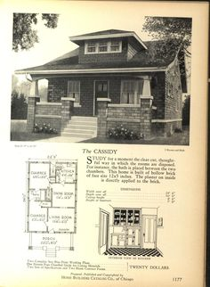 The CASSIDY - Home Builders Catalog: plans of all types of small homes by Home Builders Catalog Co.  Published 1928