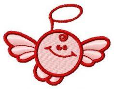 Round angel machine embroidery design. Machine embroidery design. www.embroideres.com