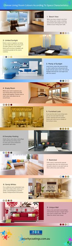 Get The Perfect Living Room Paint Colors According To The Surroundings Home Wall Decor, Cheap Home Decor, Painting Tips, House Painting, Empty Room, Love Your Home, Paint Colors For Living Room, Home Improvement Projects, Infographics