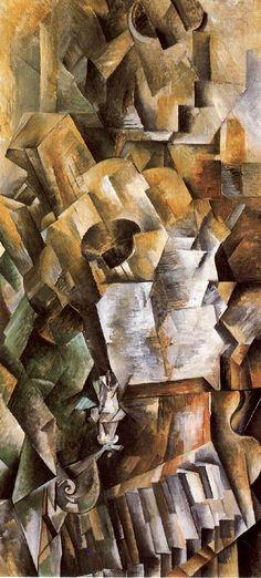 Piano y Mandola Óleo sobre lienzo.Braque 1909-1910. 91,7 x 42,8 cm