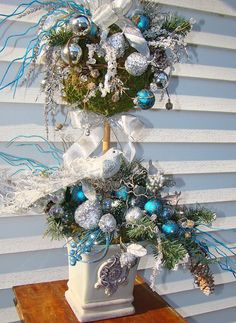 XL Christmas Winter Holiday Shabby Chic by CottageGardenFlorals, $174.99