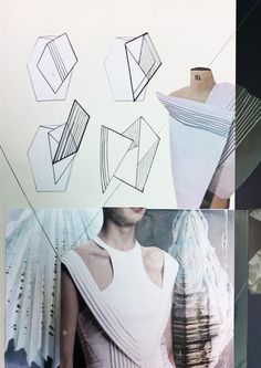 Fashion Sketchbook - fashion design development; draping; creative process; fashion portfolio // Stephanie Lai