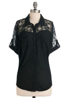 Adventures in Lace Top | Mod Retro Vintage Short Sleeve Shirts | ModCloth.com